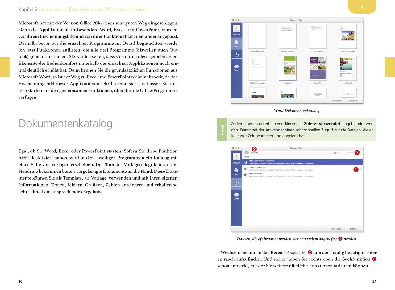 Microsoft Office 2016 für den Mac (Buch) - amac-buch Verlag