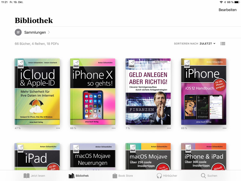Bücher auf dem iPad