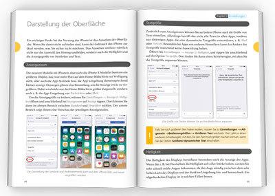 Innenseiten iPhone iOS 12 Handbuch